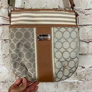 Nine West shoulder adjustable tan mini bag